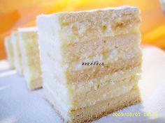 Snow White Cake ('Prajitura Alba ca Zapada', Romanian lemon cream layer cake)