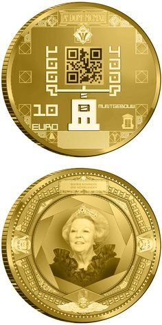 10 euro: 100 year Muntgebouw.Country: Netherlands Mintage year:2011 Face value:10 euro Diameter:22.50 mm Weight:6.72 g Alloy:Gold Quality:Proof Mintage:3,500 pc proof
