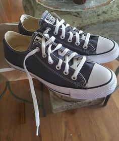 2b8783d948ae (eBay link) CONVERSE All Star Low Top Shoes Canvas Sneakers NEW Sharkskin  155574F