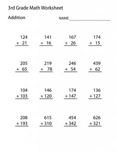 Looking for a Free Printable Second Grade Math Worksheets. We have Free Printable Second Grade Math Worksheets and the other about Benderos Printable Math it free. Math Addition Worksheets, First Grade Math Worksheets, 3rd Grade Math Worksheets, Free Printable Math Worksheets, Second Grade Math, School Worksheets, Subtraction Worksheets, Animal Worksheets, Nursery Worksheets