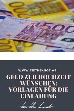 Geld zur Hochzeit wünschen: Texte für die Einladung