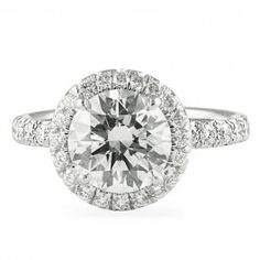 LEPOZZI 2.20 CT ROUND DIAMOND PLATINUM ENGAGEMENT RING