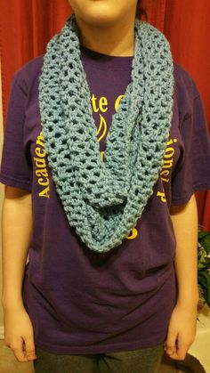 Cute crocheted infinity scarf