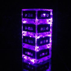 Lighted 80s Party Centerpieces Music Themed by BreakTheRecord