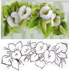 The Latest Trend in Embroidery – Embroidery on Paper - Embroidery Patterns China Painting, Tole Painting, Fabric Painting, Painting & Drawing, One Stroke Painting, Country Paintings, Paper Embroidery, Learn To Paint, Painting Patterns