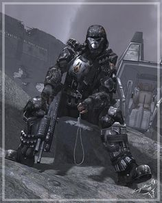 Echoes: Hi everyone! so the name of this project is going to be ECHOES IN THE GRAVE, This was a Cover att but I was working on a character at the same t. Echoes in the Grave Armor Concept, Concept Art, Odst Halo, Gi Joe, Cyberpunk, Halo Armor, Halo Spartan, Halo Master Chief, Halo Series