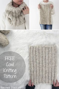 {FREE} DARING : Ribbed Cowl Knitting Pattern - Brome FieldsThanks kniftyknittings for this post. This is a super easy pattern! Which is my favorite kind of knitting pattern. Easy Knitting, Knitting Stitches, Knitting Patterns Free, Crochet Patterns, Knitting Needles, Ravelry Free Patterns, Designer Knitting Patterns, Jumper Knitting Pattern, Drops Design