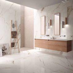 SUPREME EVO: large format porcelain stoneware collection marble effect Bathroom Wall, Small Bathroom, Bathrooms, Living Room Sofa Design, Marble Effect, Bathroom Interior Design, Beautiful Bedrooms, House Design, Indoor