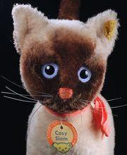 Rare Sweet c1970 Steiff Siamese Kitten Cat Cosy Siam All ID