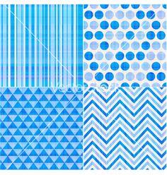 Seamless geometric pattern vector - by paul_june on VectorStock®