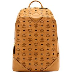 MCM Duke Backpack ($775) ❤ liked on Polyvore featuring men's fashion, men's bags, men's backpacks and mcm