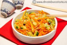 salata-coreana-de-morcovi-cu-castraveti Thai Red Curry, Foodies, Recipies, Healthy Recipes, Ethnic Recipes, Food, Recipes, Healthy Eating Recipes, Healthy Food Recipes