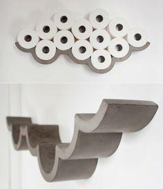Badaccessoires Toilettenpapierhalter aus Beton