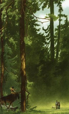 ''She Came Out of the Forest Like a Ghost'' by Charles Vess