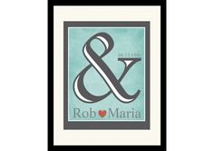 & Mineral Blue Personalized Print for Couples. 25th Wedding Anniversary, Wedding Day, Newlywed Gifts, Something Blue, Newlyweds, Gift Ideas, Bridal, Couples, Mineral