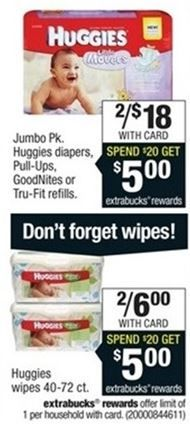 Huggies Pull-Ups and Little Snugglers Diapers only $3.50 each at CVS + FREE Wipes (starting 2/15!) - http://www.couponaholic.net/2015/02/huggies-pull-ups-and-little-snugglers-diapers-only-3-50-each-at-cvs-free-wipes-starting-215/