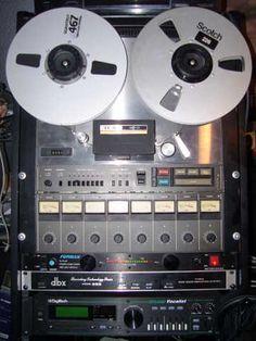tascam 8 track reel to reel. analog pride!