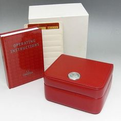 OMEGA WATCH BOX + MANUAL BOOK + CARD HOLDER + ID CARD + FREE SHIPPING  #Omega