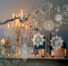 65 Ideas For Crochet Christmas Star Ornament Snowflake Pattern Crochet Ornaments, Snowflake Ornaments, Star Ornament, Christmas Snowflakes, Christmas Star, Christmas Crafts, Christmas Decorations, Christmas Ornaments, Christmas Patterns