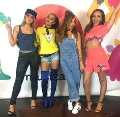 ly HQ has been having many different visitors lately from Little Mix to Amanda Cerny. Jesy Nelson, Little Mix Singers, Perrie Edwards Style, Little Mix Style, Litte Mix, Music Mix, Spice Girls, Girl Bands, Western Outfits