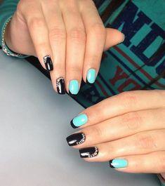 @pelikh_Beautiful nails 2017, Black nails ideas, Evening nails, French manicure ideas…