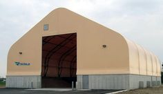 Tensile Fabric Structure for bulk storage and warehousing
