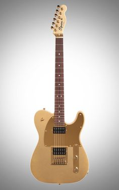 Squier J5 John 5 Signature Telecaster 2 Electric Guitar: Custom humbuckers, body binding and dual volume knobs make for an awesomely atypical Tele that's perfect for fans of John 5's genre-bending shred.
