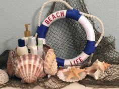 Creating with Joy: Nautical Wreath Sea Turtle Cupcakes, Fish Lanterns, Mermaid Nail Art, Nautical Wreath, Life Preserver, Paper Place, Mermaid Birthday, Life Savers, Design Crafts