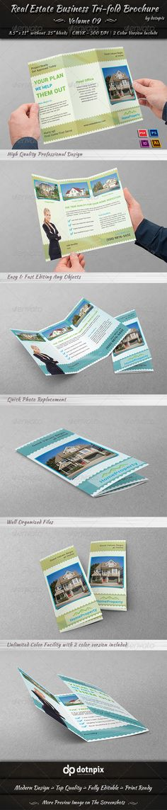 Real Estate Business Tri-fold Brochure   Volume 9