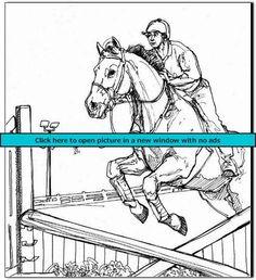 ausmalbilder pferde springreiten - ausmalbilder pferde kostenlos zum ausdrucken   ausmalbilder