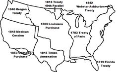 Westward Expansion Map of the USa map Land Areas and Expansion