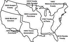 Manifest Destiny Map