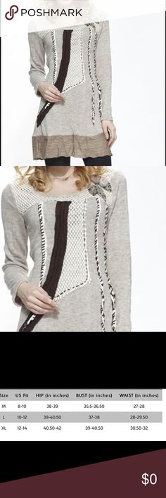 Couture Wool Blend Patchwork Boho Tunic Beat the breeze in this tunic crafted from a warm wool blend, while a bold patchwork design boasts boho-inspired style. Size M: 34'' long from high point of shoulder to hem 45% wool / 40% polyester / 15% acrylic. Imported. 102820171701101 Tops Tunics