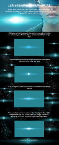 Lens Flare Tutorial by artspell on DeviantArt