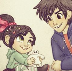 Venellope and Hiro! They would be cute siblings
