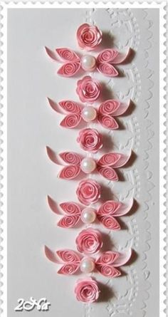 Quilinhos flores rosas