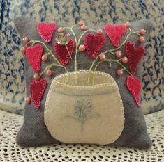 Cute wool applique pincushion by marian