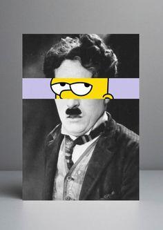 MASHUPS ENTRE CÉLÉBRITÉS ET DESSINS ANIMÉS… Rui Pinho Charlie Chaplin // bart simpson