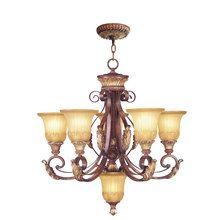 View the Livex Lighting 8555 Villa Verona 5 Light 2 Tier Chandelier at LightingDirect.com.