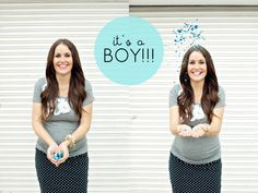 Maggie Holmes Baby Boy Announcement | love the idea of tossing glitter