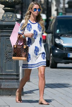 Girl about town: Nicky Hilton was spotted shopping up a storm in Paris on Wednesday