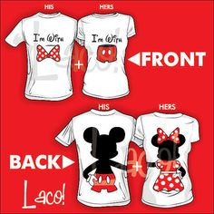 NEW 2 Front I'm with Minnie bow & I'm with by Lacoprintingdesign
