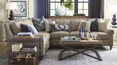 beige and indigo Real Living Room Idea