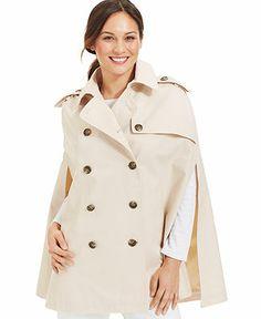 $150 Lauren Ralph Lauren Classic Trench Rain Cape - Handbags & Accessories - Macy's