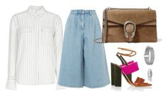 """Fishing"" by mttakes ❤ liked on Polyvore featuring BCBGMAXAZRIA, Edit, Gucci, Paul Andrew, John Hardy and Sanjay Kasliwal"