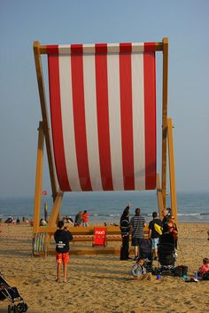 Giant Beach Items In Rimini Huge Stuff Pinterest Deck Chairs And Roadside Attractions
