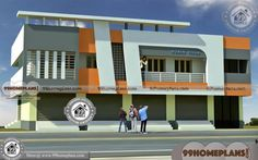 Shop With Living Quarters | 65+ Modern Two Storey Homes Plan Designs