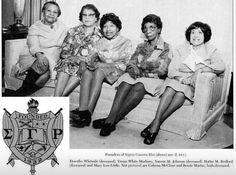 Five of the seven founders of Sigma Gamma Rho Sorority.