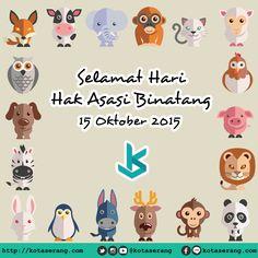 Gambar Peringatan Hari hak asasi binatang 15 Oktober 2015  Read More on http://galeri.kotaserang.com/2015/10/gambar-peringatan-hari-hak-asasi-binatang-15-oktober-2015.html