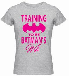 TRAINING TO BE BATMANS WIFE professionally printed onto a Gildan Heavy Cotton t-shirt. We are committed to providing the best quality and value for your money garment printing. All of our items are made to order using the most durable and resilient vinyl graphics on the market to